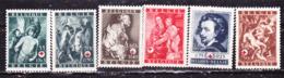 Belgio 1944 Croce Rossa  Serie Completa MNH** - Belgium