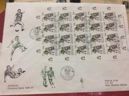 ITALIA REPUBBLICA - Fdc Venetia  Anno 1997 Juventus Campione Foglietto Intero Raro - 1946-.. République