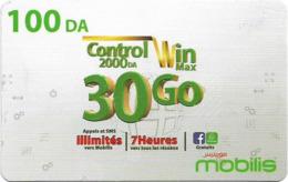 Algeria - Mobilis - Control Win Max 30 Go, Exp.06.02.2019, GSM Refill 100DA, Used - Algerien