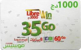 Algeria - Mobilis - Libre Win Max 35 Go, Exp.06.02.2019, GSM Refill 1.000DA, Used - Algeria