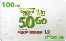 Algeria - Mobilis - Control Win Max 50 Go, Exp.06.02.2019, GSM Refill 100DA, Used - Algerien