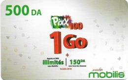 Algeria - Mobilis - Pixx 100 To 1 Go, Exp.06.02.2019, GSM Refill 500DA, Used - Algerien