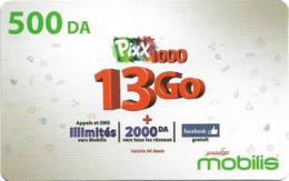 Algeria - Mobilis - Pixx 100 To 13 Go, Exp.06.02.2019, GSM Refill 500DA, Used - Algeria