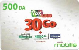Algeria - Mobilis - Pixx 100 To 30 Go, Exp.06.02.2019, GSM Refill 500DA, Used - Algeria
