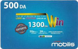 Algeria - Mobilis - Libre Ou Control Win, Exp.06.02.2019, GSM Refill 500DA, Used - Algerien