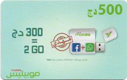 Algeria - Mobilis - Flash Stick (Arabic Text), Exp.06.02.2019, GSM Refill 500DA, Used - Algeria