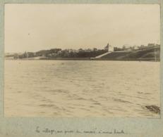 """Agon-Coutainville Circa 1900. Le Village, Vue Prise Du """" Marais """" à Marée Haute. Manche. Normandie. - Lieux"""