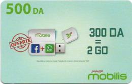 Algeria - Mobilis - Flash Stick (English Text), Exp.06.02.2019, GSM Refill 500DA, Used - Algerien