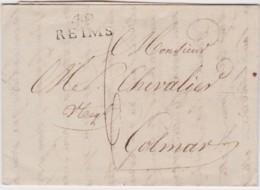 Bt - Lettre REIMS 1808 - 1801-1848: Precursori XIX