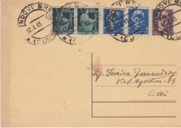 A/1 - STORIA POSTALE - 2 VALORI 60 Cent.+2 VALORI 35cent.+1 VALORE 50 Cent. - 1900-44 Vittorio Emanuele III