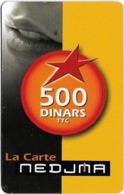 Algeria - Nedjma - La Carte Nedjma, Mouth, Exp.30.03.2007, GSM Refill 500DA, Used - Algerien