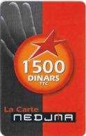 Algeria - Nedjma - La Carte Nedjma, Mouth, Exp.31.12.2005, GSM Refill 1.500DA, Used - Algérie