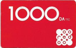 Algeria - Oeredoo - Red, Exp.31.03.2021, GSM Refill 1.000DA, Used - Algérie
