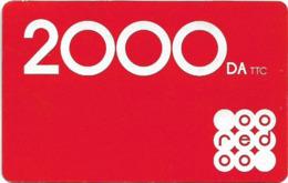Algeria - Oeredoo - Red, Exp.31.03.2021, GSM Refill 2.000DA, Used - Algérie