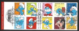 OCB Nr 3814/23 Smurf Schrtroumpf Peyo B95 Carnet 95 - Centrale Stempel - Belgique