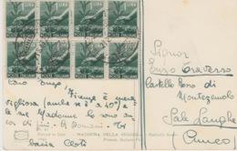 A/1 - STORIA POSTALE - 8 VALORI LIRE 1 - 1900-44 Vittorio Emanuele III