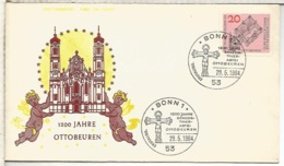 ALEMANIA FDC BONN 1200 JAHRE OTTOBEUREN RELIGION ARQUITECTURA - Iglesias Y Catedrales
