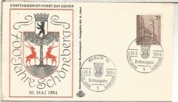 ALEMANIA FDC BERLIN 1964 700 JAHRE SCHONENBERG - [5] Berlin