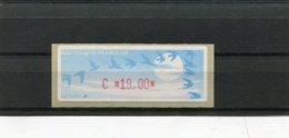 France 1 Vignette Distributeur Type C LISA  N°YT 208 - C 19,00 (vendu Sous Valeur Faciale 2,89 E) - 1990 «Oiseaux De Jubert»