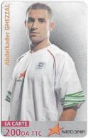 Algeria - Nedjma - Football - Abdelkader Ghezzal, Exp.31.12.2014, GSM Refill 200DA, Used - Algérie