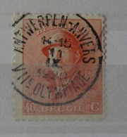 Roi Casqué COB 173 Magnifique Oblitération Concours Rare VIIème Olympiade Antwerpen-Anvers - 1919-1920 Roi Casqué