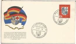 ALEMANIA FDC SAARBRUCKEN 1957 - Briefe U. Dokumente