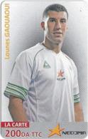 Algeria - Nedjma - Football - Lounes Gaouaoui, Exp.31.12.2014, GSM Refill 200DA, Used - Algérie