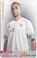 Algeria - Nedjma - Football - Nadir Belhadj, Exp.31.12.2014, GSM Refill 200DA, Used - Algérie