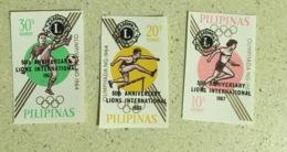 Filipinas 1967 Football Athletics Lions International - Filipinas
