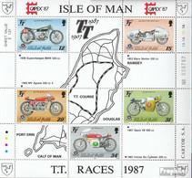 GB - Insel Man Block9 (kompl.Ausg.) Postfrisch 1987 Tourist-Trophy-Motorradrennen - Man (Insel)