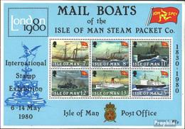 GB - Insel Man Block3 (kompl. Ausg.) Postfrisch 1980 Dampfschiffe - Man (Insel)