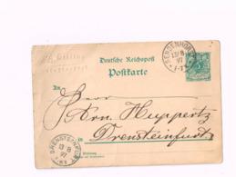 Entier Postal à 5 Pfennig.Expédié De SEndenhorst à Drensteinfurt. - Allemagne