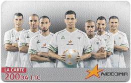 Algeria - Nedjma - Football - Karim Matmour & Teammates, Exp.31.10.2014, GSM Refill 200DA, Used - Algérie