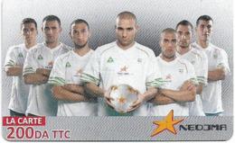 Algeria - Nedjma - Football - Rafik Djebbour & Teammates, Exp.31.12.2014, GSM Refill 200DA, Used - Algérie