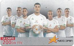 Algeria - Nedjma - Football - Lounes Gaouaoui & Teammates, Exp.31.12.2014, GSM Refill 200DA, Used - Algerien