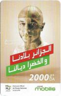 Algeria - Mobilis - Football - Yacine Brahimi, Exp.31.12.2018, GSM Refill 2.000DA, Used - Algeria