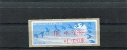 France 1 Vignette Distributeur Type C LISA  N°YT 237 Variété Erreur D'impression - Lettre 6,70 FRF 1,02 EUR - 1990 «Oiseaux De Jubert»
