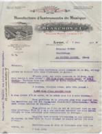 Lettre De Commande /Manufacture D'Instruments De Musique/ Blanchon & Cie/LYON/Courbe/La Couture Boussey/1929    PART278 - Muziek & Instrumenten