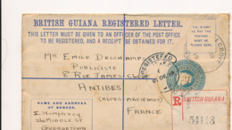 1 ENTIERS POSTAUX POSTAL ENTIER GUYANE BRITANIQUE BRITISH GUIANA - Francobolli