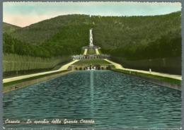 °°° Cartolina - Caserta Lo Specchio Della Grande Cascata Viaggiata °°° - Caserta