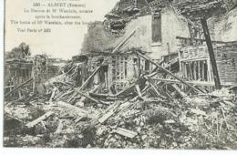 ALBERT La Maison De Mr Watelain, Notaire Après Le Bombardement - Albert