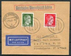 1943 Germany Deutsche Dienstpost Adria Pola Airmail Cover - Berlin - Germany