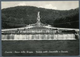 °°° Cartolina - Caserta Parco Della Reggia Veduta Delle Cascatelle E Cascata Viaggiata °°° - Caserta