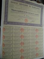 Soc. ARDOISIERE Du MAINE-ANJOU / Obligation Hypothécaire - N° 00,014 ( Zie/Voir Foto ) ! - Actions & Titres