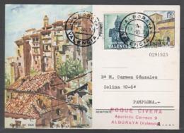 TARJETA ENTERO POSTAL 1975, + PLAN SUR VALENCIA, CIRCULADA - Enteros Postales