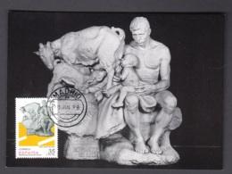 5.- SPAIN ESPAGNE 1998 MAXIMUM CARD - EL PRADO MUSEUM - SCULPTURE OF ANICETO MARINAS - BROTHERS OF MILK - Escultura