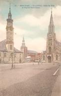 1355) Sint-Truiden - Grand'Place, Hôtel De Ville Et L'Eglise N.D. - Bertels Gekleurd - Sint-Truiden