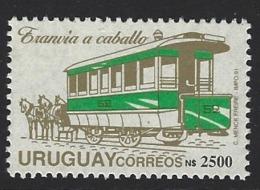 D07 - Uruguay - 1991 - SG 2037 - MNH - Horse Tram - Strassenbahnen