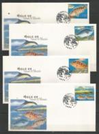 4 Pcs DPR KOREA - 2005 - Animals - Dolphins - Fishes - Marine Life - Korea, South