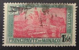 Monaco: Yvert N° PA 1 (Timbre Surchargé, 1933) Oblitéré - Airmail